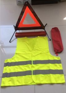 Warning Triangle Set with Safety Vest pictures & photos