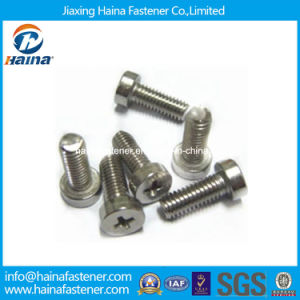 Stock ISO7048 Stainless Steel Cross Recessed Cheese Head Machine Screw pictures & photos