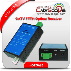 High Performance 1way Output Agc Control CATV FTTH Mini Optical Receiver