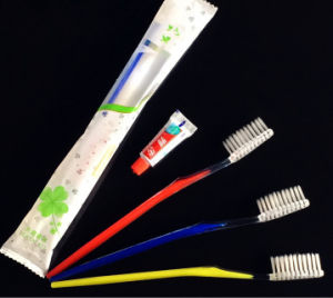 Double Color Toothbrush +3G Toothpaste Dentail Set pictures & photos
