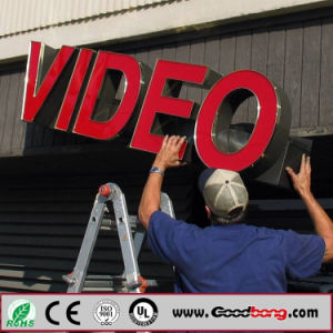 Vacuum Coating Acrylic Non-Luminance Video Bank Sign Board pictures & photos