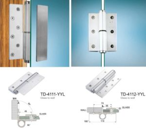Hydraulic Glass Door Clamp Aluminum Hinge pictures & photos