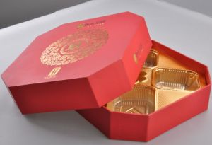 Hot Stamping Red Paper Box/Packing Box/Moon Cake Box