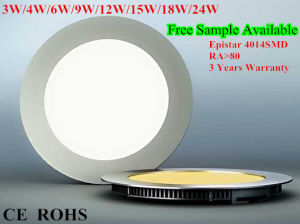 12W Epistar SMD4014 Downlight LED Panel Light pictures & photos