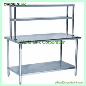 Good Selling Stainless Steel Kitchen Work Tables with Under Shelf