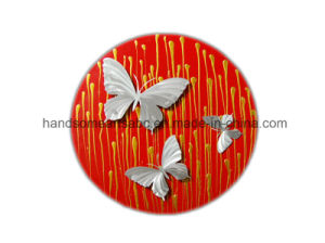 Circle Aluminum Relievo Wall Art Decor - Butterfly pictures & photos