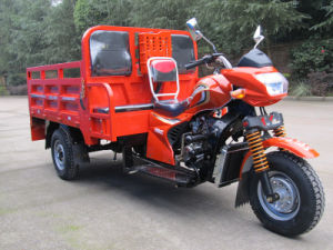 Chinese Three Wheel Cargo Motorcycle with Two Passenger Seats pictures & photos