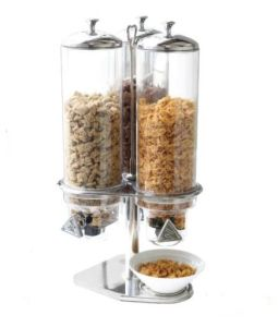 Trible Stainless Steel Cereal Dispenser for Buffet Food Service pictures & photos