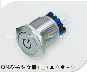 Power Symbol 22mm No Nc Push Button Switch pictures & photos