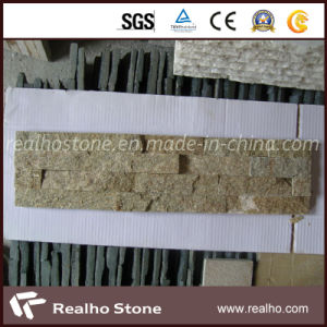 Sandy Yellow Quartzite Culture Stone Tile for Wall Cladding