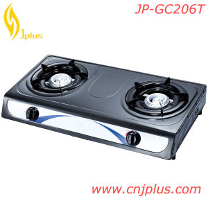 Top Sale Two Burners Cast Iron Burner Gas Stoves in Rwanda (JP-GC206T) pictures & photos