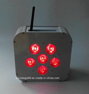 DMX 512 Wireless Battery Recharged 6PCS Rgbawuv 15W 6in1 PAR Lights pictures & photos