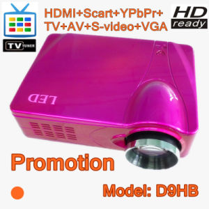 LED Projector 1080p HD Proyector Built in TV Tuner (D9HB)