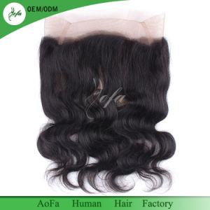 Body Wave Brazilian Hair 360 Lace Frontal Closure Natural Color pictures & photos