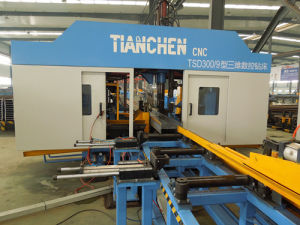 CNC H Beam Drilling Machine Model Tsd300/9 pictures & photos