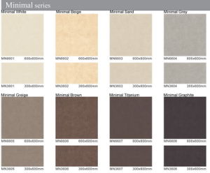 Building Material 600X600mm/300X600mm-Minimal Series Glazed Floor Tiles