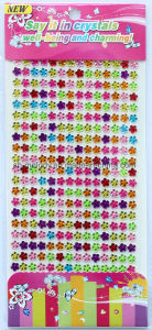 Multicolor Flower Rhinestone Stickers/Acrylic Borders/Mobile Phone Decoration pictures & photos