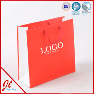 China Red Paper Carrier Ping Bags