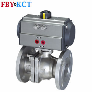 1/2′′ to 8′′ Flanged End Ss Material Pneumatic Actuator Ball Valve (RT serise)