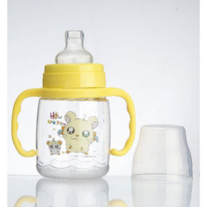 Hot Sale Glass Baby′s Bottle in Various Design pictures & photos