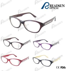 Fashion Wooden Pattern Reading Glasses with Metal Decoration (RP460024) pictures & photos