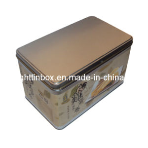 Rectangular Tin Can for Packing Biscuits (DL-RT-0274)