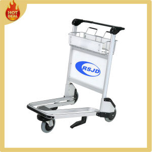 Aluminum Alloy Airport Passenger Baggage Trolley Cart with 3 Wheels pictures & photos
