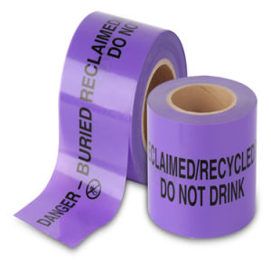 Purple Reclaimed Water Warning Tape pictures & photos