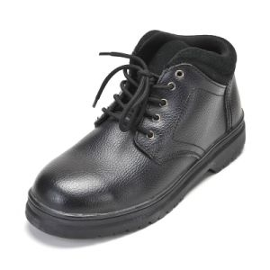 Safety Shoes with Steel Toe\ Steel Plate Rubber Outsole Smooth Finishing Leather