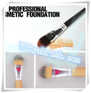 Hot Sale Professional Foundation Brush with High Quality Natural Synthetic Hair Bamboo Handle