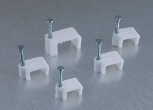 Flat Cable Clip Nail Cable Clip Square Cable Clamp pictures & photos