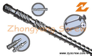 Conical Double Screw Barrel for PVC pictures & photos