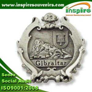Customized Tin Plated Badge for Gibraltar Market (B 624) pictures & photos