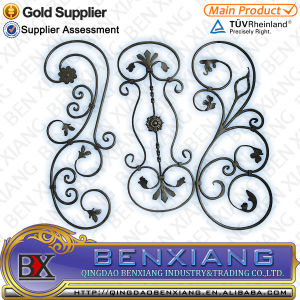 Iron Main Gate Parts Building Metal Decorative Wrought Iron Flower Panels Steel Rosettes pictures & photos