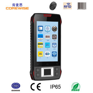 Handheld Android Industrial Terminal with Fingerprint Sensor and Barcode Scanner