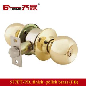 Polished Brass Ball Knob Door Lock Set