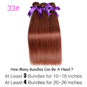 Peruvian Hair Bundles 100% Human Hair Weave Pure 33 Color 10′′-26′′ Non Remy Hair Extension pictures & photos