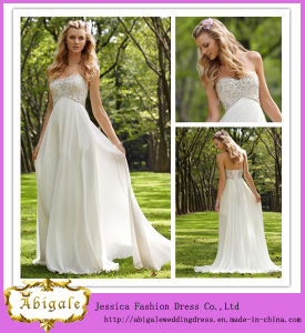 China Elegant and Simple A Line Sweetheart Open Back Beaded Bodice ...