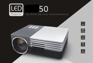 Full HD1080p Portable Pico Projector with USB/SD/VGA/HDMI/AV/Micro USB Input for Home Theatre in Stock
