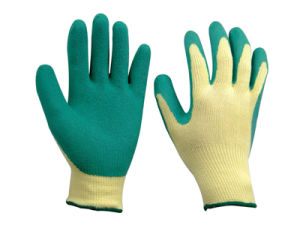 10g Liner Latex Coated Glove pictures & photos