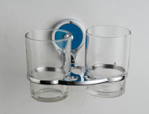 Wall Mounted Zinc New Designed Double Tumbler Holder (JN10252)