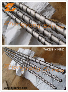 Bimetallic Screw Barrel Extruder Screw Barrel PE Film Screw Barrel pictures & photos