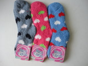 Children Winter Fleece Cotton Socks Terry Socks pictures & photos