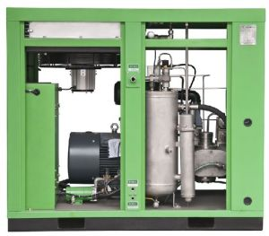 90kw Stationary Configuration Variable Speed Oil Free Screw Air Compressor pictures & photos