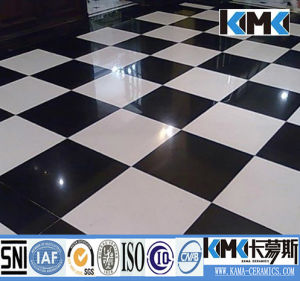 White and Black Ceramic Floor Tile