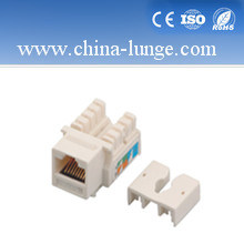 RJ45 CAT6 Keystone Jack with 180 Degree, RJ45 Connector pictures & photos