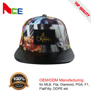 China Flat Leather Brim Digital Printing Sublimation Printed Custom ... dff8b655e1b0