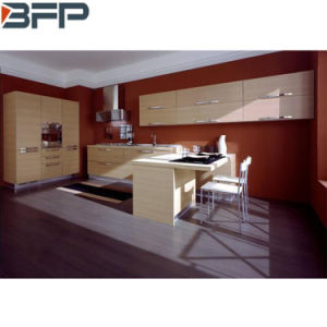 Classic Style Melamine Finish Kitchen Cabinets with Wood Grain