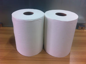 Hand Roll Paper Towel 80m Recycled White pictures & photos