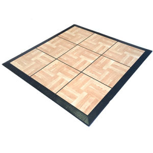 Pvc Wooden Raised Interlocking Floor Tiles And Pp Material Dance Flooring Tile Outdoor